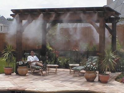 Racire terase sisteme de racire prin ceata artificiala - Nebulizador casero para terraza ...